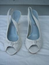 LELA ROSE UNFORGETTABLE MOMENTS WEDDING BRIDAL WHITE SHOES HEELS WOMEN'S 6 1/2