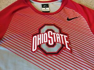 Nike Elite OSU Buckeyes Dri-fit Shirt Long Sleeve S Team Issue GO BUCKS! NWOT
