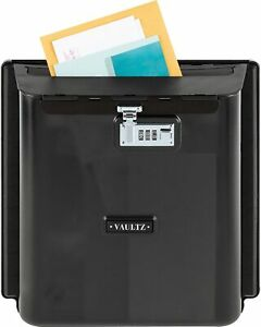 "IdeaStream Locking Wall Pocket Vaultz Mailbox 11"" x 4-1/4"" x 14"" Smoke Gray"
