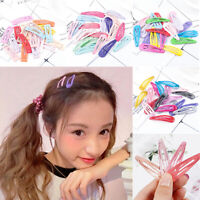 20pcs 5cm Snap Hair Clips Hair Clip Pins BB Hairpin Color Metal Barrettes Hot