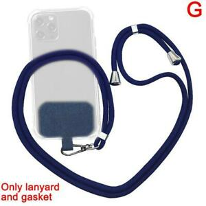 Universal Crossbody Nylon Patch Phone Lanyards Mobile Phone Strap Lanyard  7Y6T