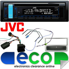 Vauxhall Corsa Combo C JVC Car Stereo CD MP3 USB AUX & Steering Wheel Kit Silver
