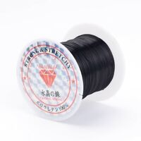 Elastic Fibre Wire Beading Jewelry Cord Black Beading Wire for Bracelet Making