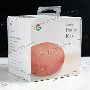 NEW Google Home Mini Smart Speaker - Coral SEALED Google Assistant