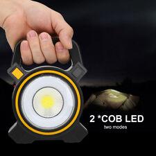 10W LED Rechargeable Portable Projecteur Lampe Travail Solaire Chantier Torche