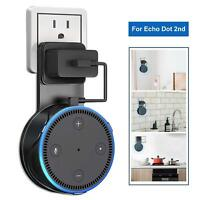 Wall Outlet Mount Hanger Holder Stand Bracket With Cable For Amazon Echo Dot 2