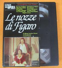 VHS Amadeus Mozart LE NOZZE DI FIGARO Un palco all'opera (F107) no cd dvd lp