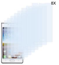 8 x lámina protectora LG Optimus l7 p700 lámina mate antireflex protector de pantalla