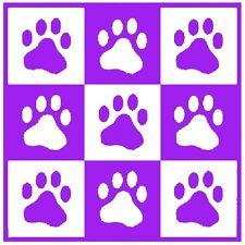 30 Custom Purple Paw Print Art Personalized Address Labels