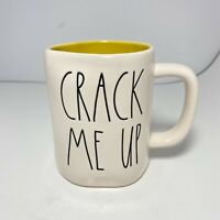 New RAE DUNN Gift Ivory/Yellow Mug By Magenta Farmhouse CRACK ME UP