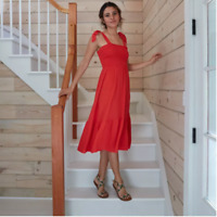 Women's Sleeveless Tie Shoulder Dress - A New Day - Red - XL - C565