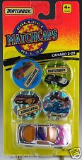 Matchbox Matchcaps Camaro Z-28 Silver Chrome 1/64 With #59, 23, 63, 71 New 1995