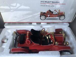 1/18 RED FORD 1913 MODEL T SPEEDSTER PRECISION 100