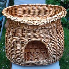 Wicker Willow 2 Tier Pet Bunk Bed Basket Cat small dog  golden wicker
