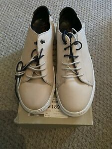 Ted Baker Duuke Off White Brogue Detail Trainers Size 9 New