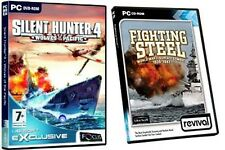 silent hunter 4 wolves of the pacific & fighting steel  NEW&SEALED