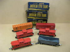 6 American Flyer S Gauge Railroad Cars 638 - 806 - 642 - 640 - Illinois Central