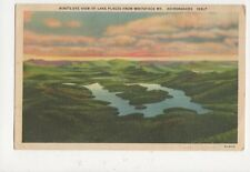 Birds Eye View Lake Placid From Whiteface Mt Vintage Postcard USA 513a