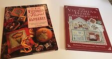 The Victorian Home & A Victorian Floral Alphabet Lot of 2 Cross Stitch Books