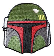 Star Wars Boba Fett Helmet Embroidered Iron On Patch - Disney Movie 127-H