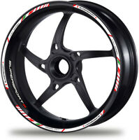 Laminated Set White Ducati Supersport S Motorcycle Wheel Decal Rim Stickers /395