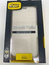 OtterBox Strada Leather Folio Wallet Case for iPhone X - Soft Opal