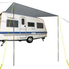 Sonnensegel für Wohnwagen grau 3,50 x 2,4 Wassersäule 2000 mm + Aufstellstangen