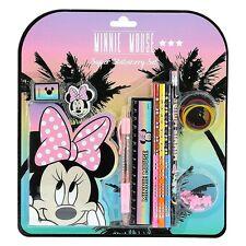 Officiel Disney Minnie Mouse super papeterie école crayon set-règle gomme