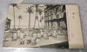 1912 Ceylon Galle Face Hotel Colombo King Edward 6c Red Stamp Postcard to USA