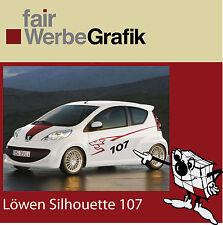 Seitendekor / Aufkleber/ Silhouette / Peugeot 107
