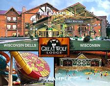 Wisconsin Dells - GREAT WOLF LODGE - Travel Souvenir Fridge Magnet