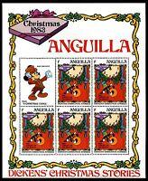 Anguilla 547-5 MNH Disney characters productions Duck  Mickey 1983 sheets x10503