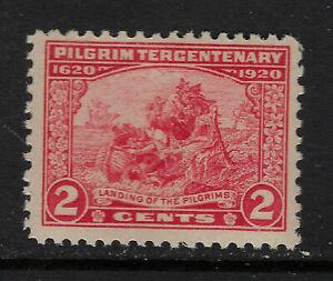 SCOTT 549 1920 2 CENT PILGRIM TERCENTENARY ISSUE MNH OG F-VF!