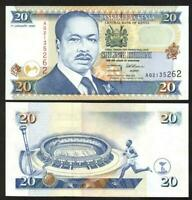 KENYA  20  SHILLINGS 1996  AA  PICK # 32  UNC  BANKNOTE.
