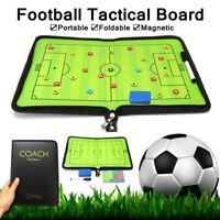 Tableau Tactique Football Magnétique Pliable Entraineur avec 24 Aimants & Stylo