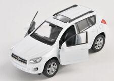 BLITZ VERSAND Toyota RAV 4 / RAV4 weiss / white Welly Modell Auto 1:34 NEU & OVP