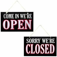 Open And Closed Sign For Business - Wooden Signs For Owners Home &amp Kitchen