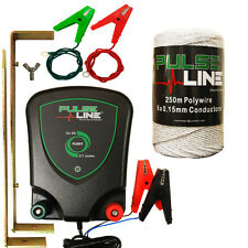 Electric fence Energiser Pulse Line 12V PLB07  250M White Poly Wire