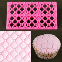 Quilting Embosser Mold Cake Fondant Cutter Decorating Mould Sugarcraft Tool