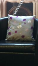 Beige With Purple Floral Design Evans Lichfield Cushion Cover