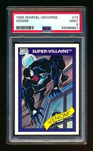 1990 MARVEL UNIVERSE #73 VENOM SUPER VILLAINS SPIDER MAN PSA 9 MINT!
