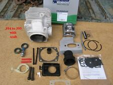 Husqvarna chainsaw 394 to 395 complete conversion cylinder kit Meteor Pistons