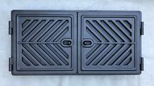 Ofentür regulierbar Warmhaltefach Warmhaltetüren Lüftungstüren Kamintür 2-flg.
