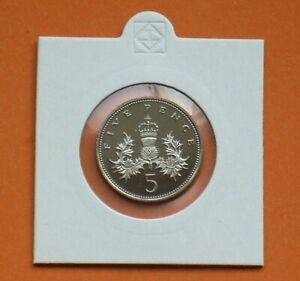1985 PROOF 5p FIVE PENCE COIN FROM A ROYAL MINT PROOF SET SCARCE DATE NOT ISSUED