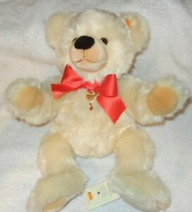 """Steiff Danbury Mint Valentine Teddy, 668340, Made 1987-89, 16"""" tall, MWT"""