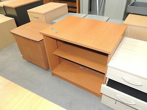 Desk High Shelving Unit in Cherry