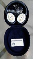 Bose QC15 Headphones Silver Acoustic Noise Canceling  .EXCELLENT cond.Geniu..