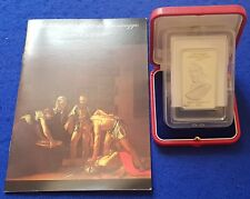 2007 Malta Lombard Bank Silver Ingot 100g Caravaggio + COA + NUMBERED BOOKLET