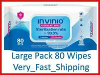 1Pack/75% AlcohoI Multi-purpose Disposable Wipes-Portable Sterilization 80 Wipes