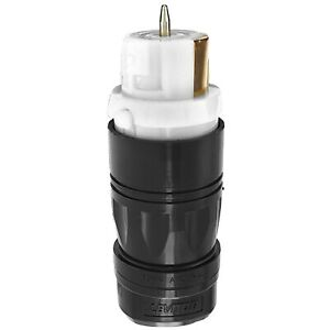 Leviton CS6364C Non-Nema 3P 4W Black&White Locking Connector 50Amp Industr Grade